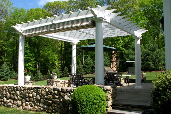 Photos of Shade Pergolas with Retractable Canopies | Shade Pergola. - Pergola Sliding Shade